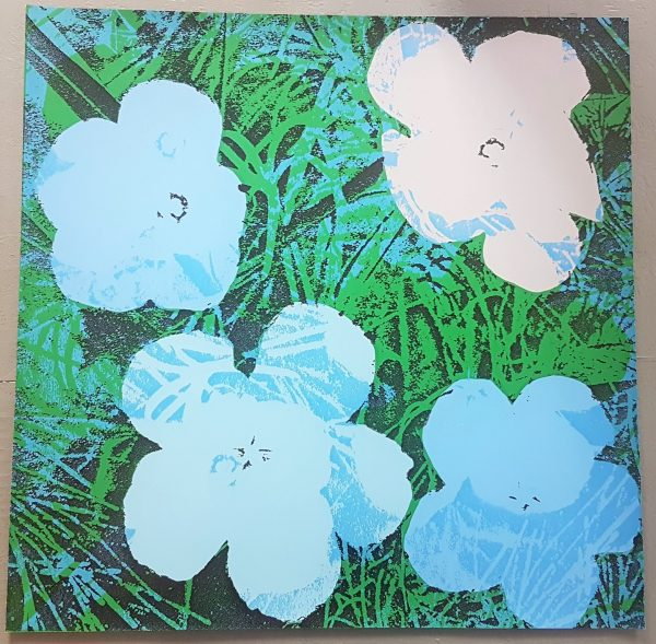 Flowers (Blue and Grey Hues - Pop Art) - Jürgen Kuhl