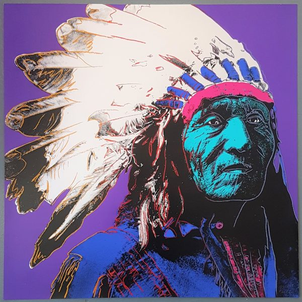Native American Chief Portrait #1 (Pop Art