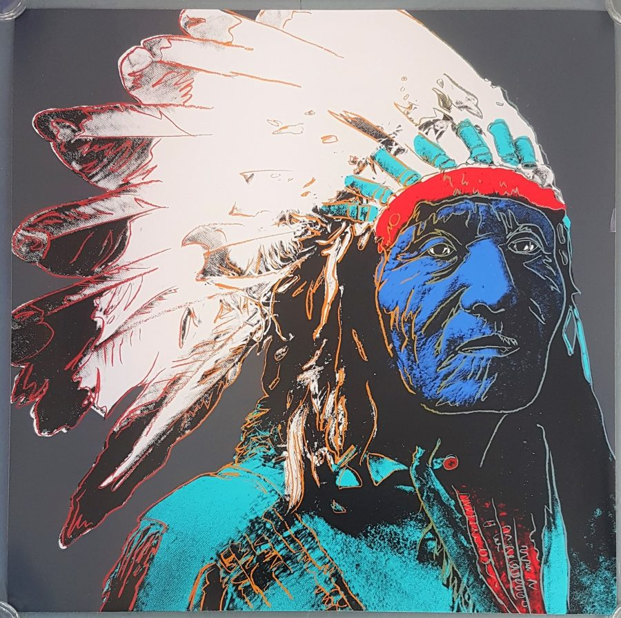 Native American Chief Portrait #2 (Pop Art