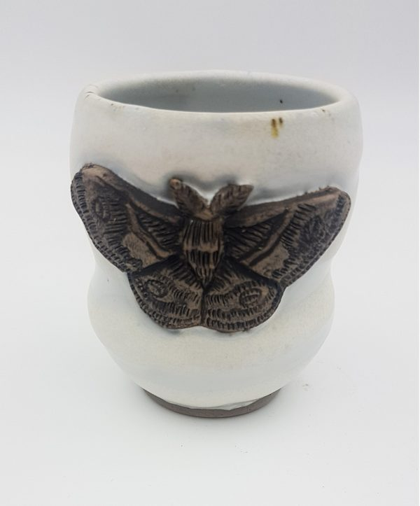Moth Wood Fired Mug - Title : Moth Wood Fired Mug