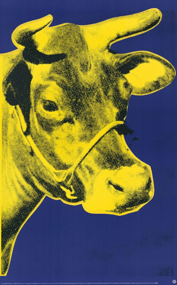 Cow (yellow) - Andy Warhol (after)