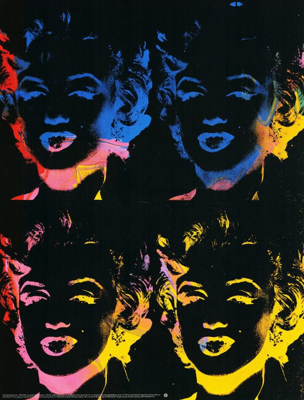 Four multicolored Marilyns - Andy Warhol (after)