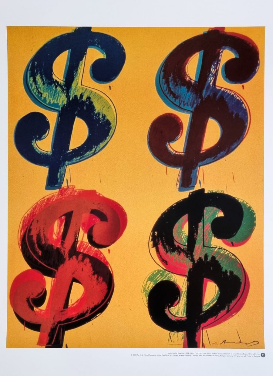 Dollar Sign (4) - Andy Warhol (after)