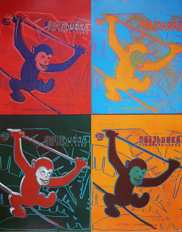Four Monkeys - Andy Warhol (after)