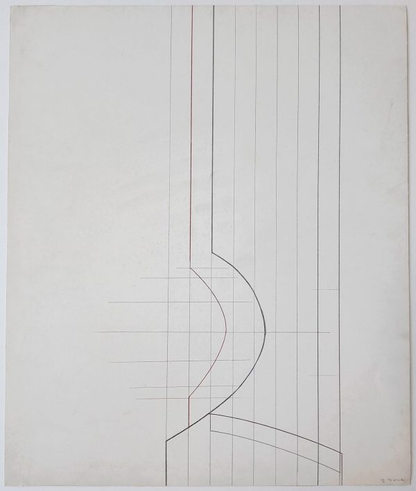Untitled Geometric Abstraction (White) - Design for a Sculpture - Gerlinde Beck