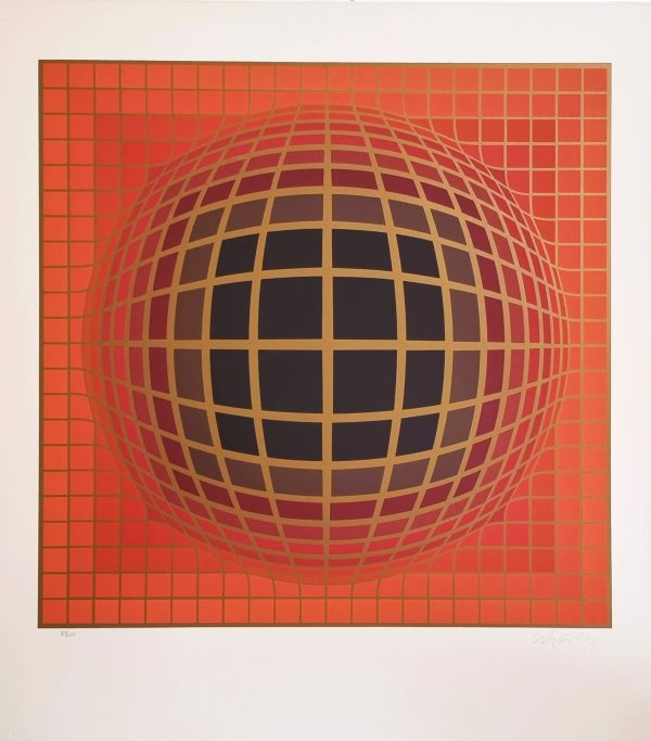 Domb B (Red) - Victor Vasarely