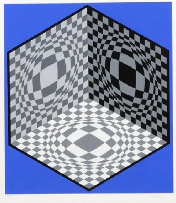 Cubic Relationship - Victor Vasarely